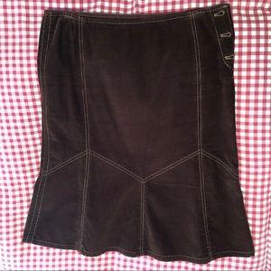 DKNY JEANS Corduroy Knee Length Tulip Skirt